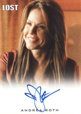 Andrea Roth Lost certified autograph card