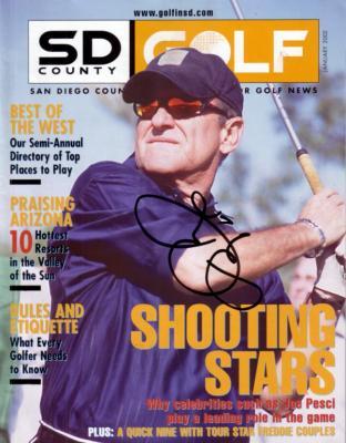 Joe Pesci autographed San Diego Golf magazine