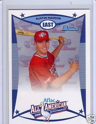Austin Maddox 2008 AFLAC Bowman Rookie Card