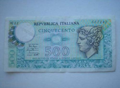 Italy 500 liras 1978