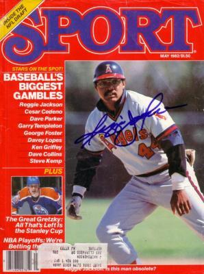 Reggie Jackson autographed Angels Sport magazine cover