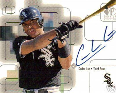 Carlos Lee certified autograph 1999 SP Signature card