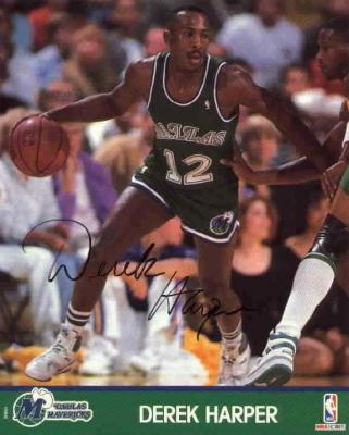 Derek Harper autographed 8x10 Dallas Mavericks photo