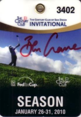 Ben Crane autographed 2010 Century Club Invitational badge