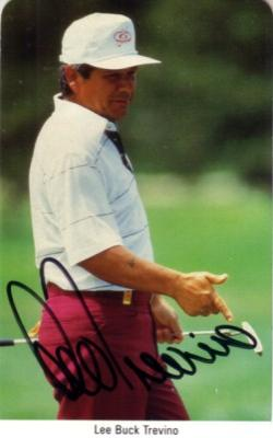 Lee Trevino autographed 1987 Fax Pax golf card