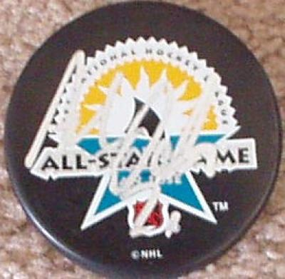Adam Oates autographed 1997 NHL All-Star Game puck