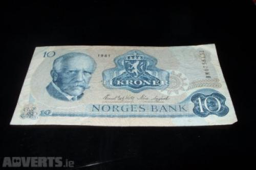 Norway 10 kroner 1984