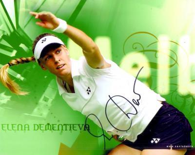 Elena Dementieva autographed 8x10 tennis photo