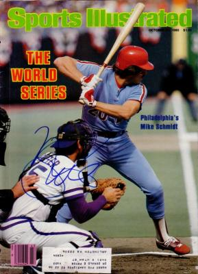 Mike Schmidt autographed Philadelphia Phillies 1980 World Series Sports Illustrated