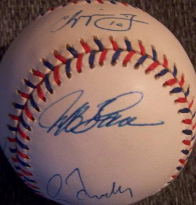1997 Atlanta Braves autographed All-Star Game baseball (Tom Glavine Chipper Jones Greg Maddux)