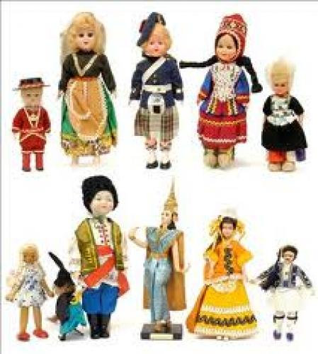 Collection of Eleven National Costume Dolls 1960's-70's