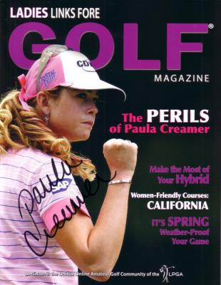 Paula Creamer autographed Ladies Links Fore Golf magazine