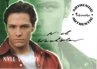 Nick Wechsler Roswell certified autograph card