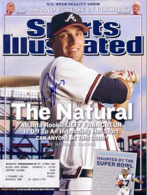 Jeff Francoeur autographed Atlanta Braves 2005 Sports Illustrated