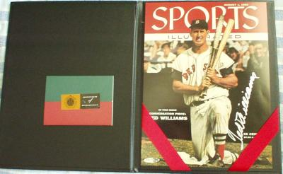 Ted Williams autographed Boston Red Sox 1955 Sports Illustrated cover (UDA)