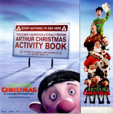 Arthur Christmas movie promo activity book & bookmark set