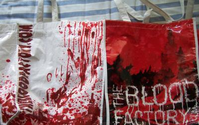 Blood Factory 2009 &amp; 2010 Comic-Con promo totebags