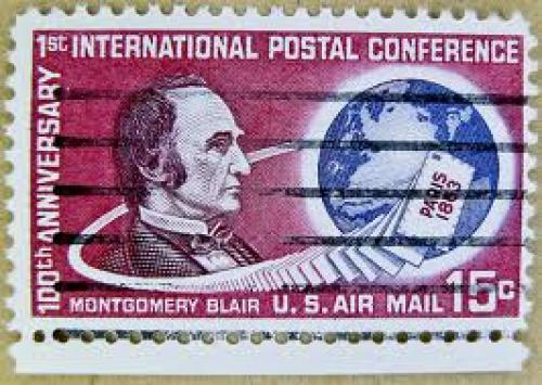 Stamps; great u.s. air mail stamps postage 15c USA airmail stamps Montgomery Blair