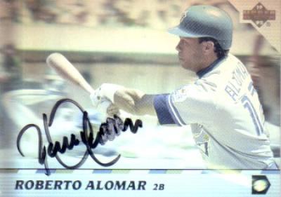 Roberto Alomar autographed Toronto Blue Jays 1992 Upper Deck hologram card