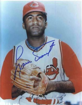 Luis Tiant autographed Cleveland Indians 8x10 photo