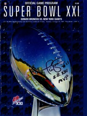 Phil Simms autographed Super Bowl 21 program inscribed SB XXI MVP