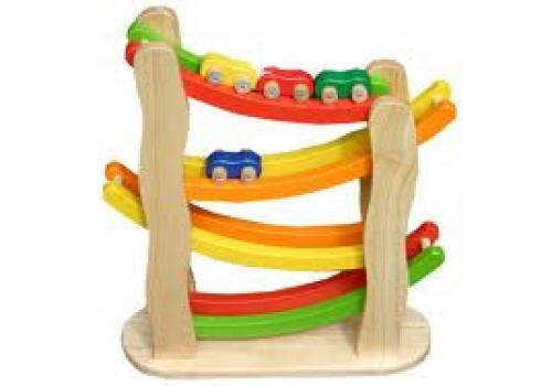 Wooden Rainbow Slope Childrens & Babies Toys