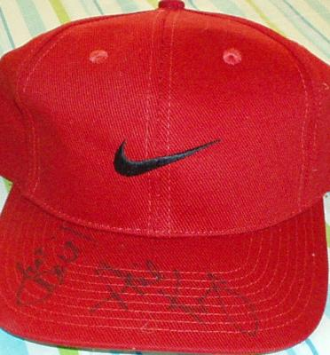 Phil Knight autographed Nike cap inscribed Just Do It!