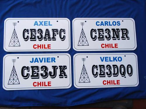 Chile Ham License plates