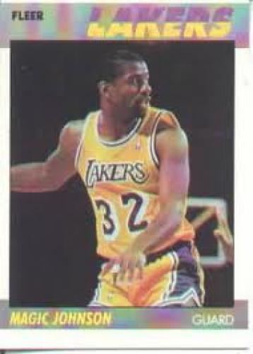 Basketball Card; Magic Johnson Lakers; 1987-88 Fleer