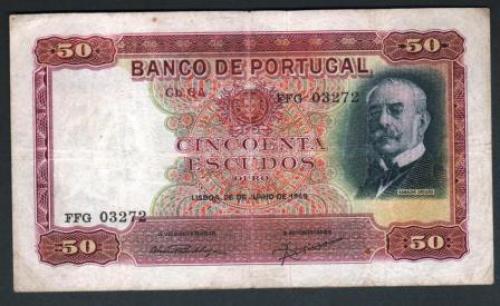 Portugal 50esc 1949