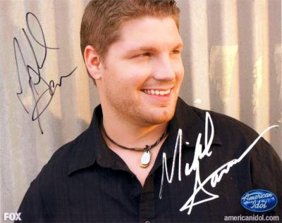 Michael Sarver autographed 2009 American Idol 8x10 photo