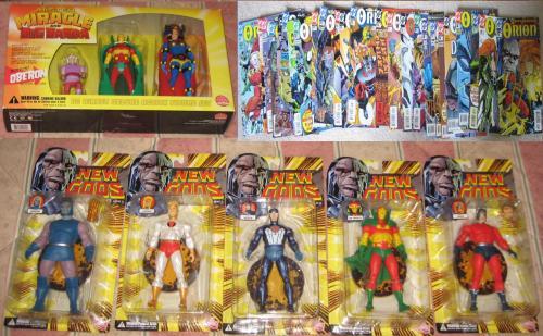 New Gods 8 DC figures +83 complete series comics Lightray, Metron MIP