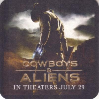 Cowboys and Aliens movie 2011 Comic-Con promo coaster