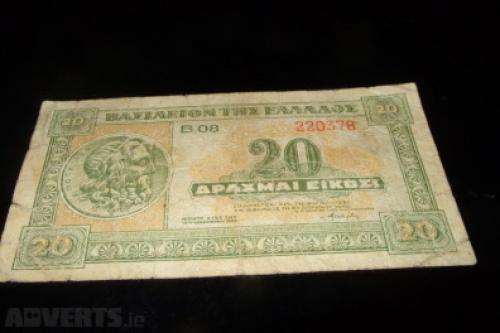 Greece-20 drachmas 1940