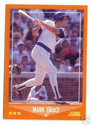 Mark Grace 1988 Score Rookie/Traded Rookie Card #80T
