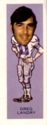 Greg Landry Lions 1974 Nabisco Sugar Daddy card #10