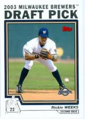 2003 Draft Pick; Rickie Weeks Baseball Card