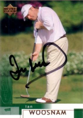 Ian Woosnam autographed 2002 Upper Deck golf card