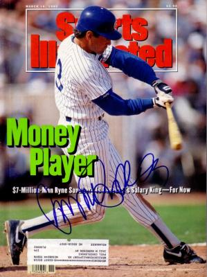 Ryne Sandberg autographed Chicago Cubs 1992 Sports Illustrated