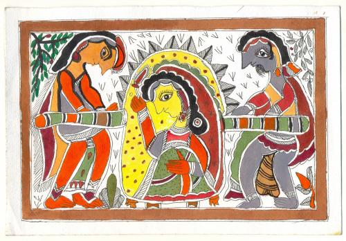 MADHUBANI Paintings / Palanquin