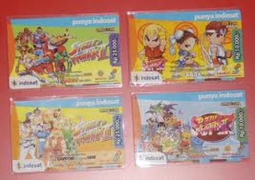 Street Fighter phonecards in Indonesia