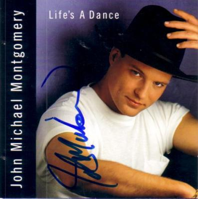 John Michael Montgomery autographed Life's A Dance CD booklet