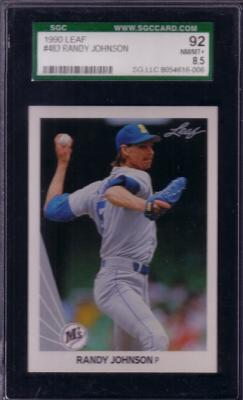 Randy Johnson 1990 Leaf card #483 graded SGC 92 (NrMt-Mt++)