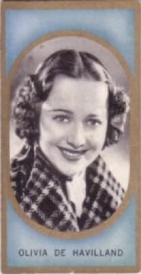 Olivia de Havilland 1938 Carreras Film Favourites tobacco card