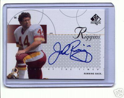 John Riggins certified autograph Washington Redskins 2002 SP Authentic card
