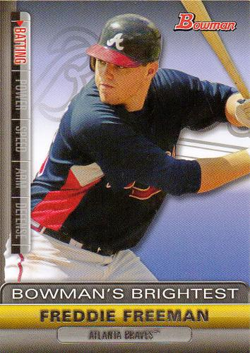 2011 Bowman Bowman's Brightest #BBR16 ~ Freddie Freeman