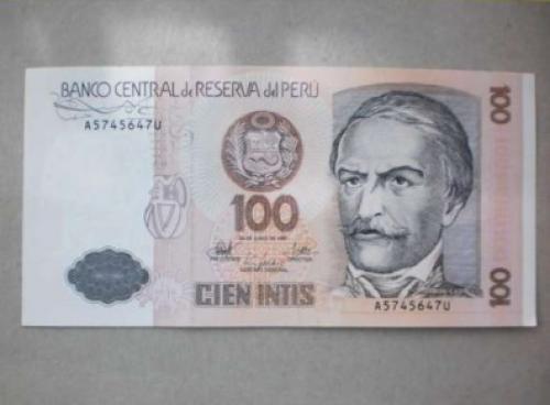 Peru-100 Intis -1987