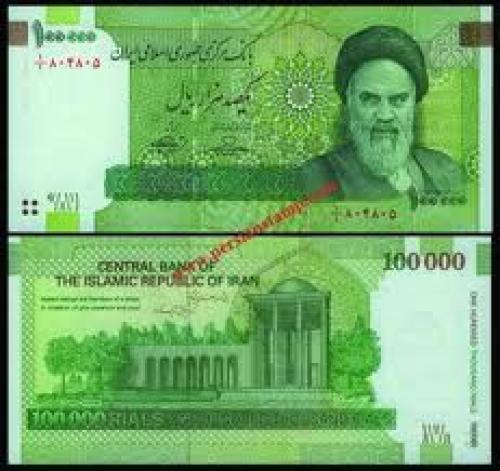 Banknotes; Iran Banknote 100000 Rials