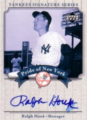 Ralph Houk certified autograph New York Yankees 2003 Upper Deck card