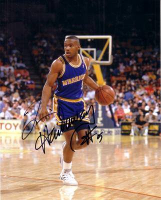 Tim Hardaway autographed Golden State Warriors 8x10 photo